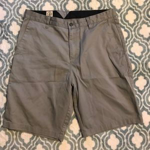 Volcom men's gray shorts size 34